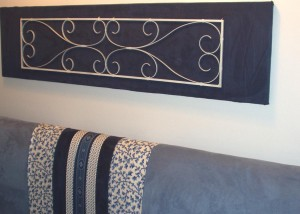 Kathy Peterson DIY Headboard and Artwork