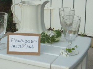 Kathy Peterson Duetica Fonts Wedding Pitcher